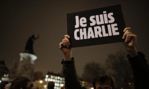 Charlie Hebdo killings placard