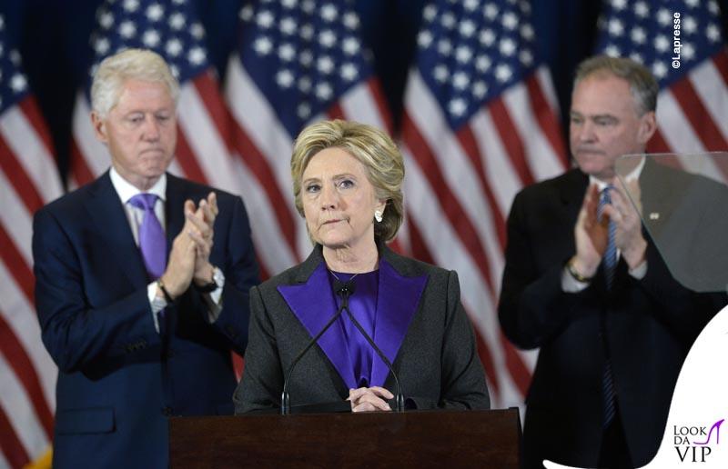 Il discorso di Hillary Clinton dopo la vittoria di Trump